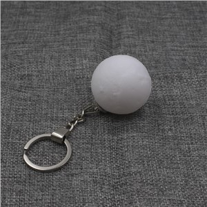 4cm Mini Moon Led Nightlights Keychain 3D Print Mini Creative Moon Nightlight Keychain Touch Switch Led Moon Night Lamp Keychain