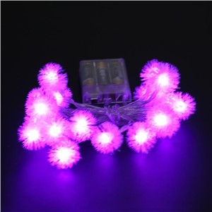 20LED Festive Decorative Colorful Lights Dandelion Light String Hair ball hanging light string Christmas Lighting