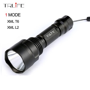 C8 1 Mode L2 Tactical Flashlight cree XML T6 XM-L2 Torch LED Waterproof Flash Light 18650 Rechargeable Battery