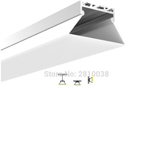 50 X1 M Sets/Lot New developed led strip aluminium profile and Trapezoid type light profile for pendant or wall lamp