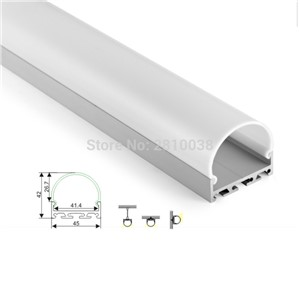 50 X1 M Sets/Lot round shape led aluminum profile channel and half moon u alu channel for ceiling or wall lamp
