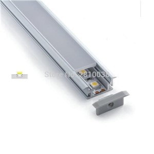 50 X 1M Sets/Lot flat aluminium profile led strip and waterproof led channel for Recessed floor or ground lamp
