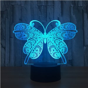 Butterfly 3D Lamp 7 Colors Changing 3D Visual LED Night Light USB Novelty Table Lamp as Home Decor Bedside Lamp For Kid's Gift