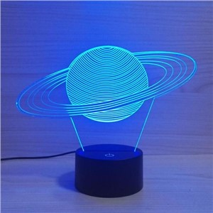 Solar System Mordel 3D Night Light LED Acrylic Stereo Vision 3D Lamp 7 Colors Changing USB Bedroom  Desk Table lamp