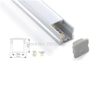 500 x 1M Sets/Lot U Shape aluminium profile for led strips and deep square type led profile for wall or flooring lamps