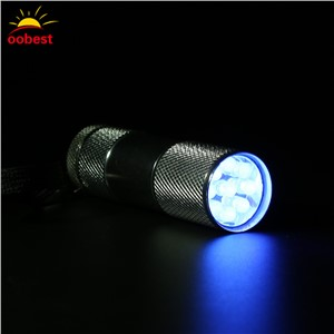 OOBEST Mini 9 LED Flashlight Blacklight Ultra Violet UV Flash Light Torch Lamp Purplelight Money Cash Checker Detection