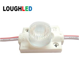 High Power Injection LED Module DC12V 1.5W  IP65 with Len 45*25 degree for Double Sides Lighting Box White Red Green Blue Yellow