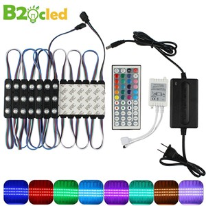 20pcs/lot LED Module Lights DC12V SMD 5050 IP65 Waterproof Light Lamp RGB 3 leds Module Lighting High-quality Advertising Lights