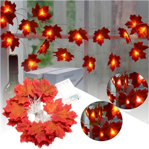 330CM 30 LED String Light Battery Christmas Fall Leaves Fairy Light Autumn Leaf Garland Party Wedding Holiday Lamp Decoration