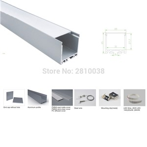 100 X 1M Sets/Lot linear light led aluminum extrusion and super wide u profile alu channel for suspension lamps