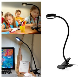 LED Desk Lamp With Clip On/Off Switch USB Rechargeable Double Color Table Lamp For Living Room Bedroom Desktops Light