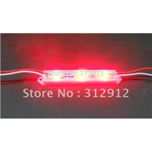 3pcs 5050 SMD LED module,plastic case,RED color,DC12V,20pcs a string;75mm*12mm