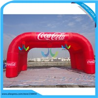 8X4M Single Layer Inflatable Advertising Arch Booth Tent For the outdoor Exhibition with light weight