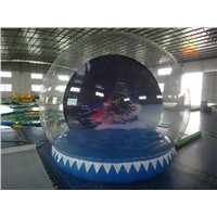 4m Inflatable Christmas Bubble Tent House Dome Outdoor Clear Snowball With Air Blower And Pump