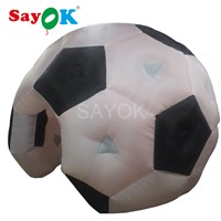 4m H Inflatable Football Tent Soccer Tent Advertising Tent with Air Blower for Sports Exhibition Trade Show Business Rent