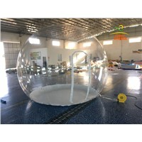 4M Diameter Durable Thick 0.8MM PVC Inflatable Bubble Tent House Dome Outdoor Clear Advertising Show Room With 450W Air Blower