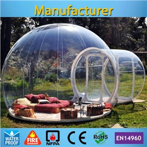 Free shipping commercial inflatable clear bubble tent with free CE/UL blower and carry bag