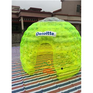 Outdoor Airtight Inflatable Transparent Clear Green Bubble Tent For Family Camping Backyard Advertising With Pump