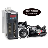 130ST-M06025 1.5KW 6N. M 1500W AC Servo Motor & Driver with 3 Meter Cable Motor Kits