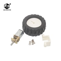 Miniature Electric Motors for Toys with Fixed Frame Coupling Nut Plastic Wheel Kit for DIY Toys Robot Arduino