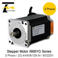 NEMA34 3 Phase 86BYG Series Stepper Motor Step Angle 1.8 4A 6N. M Torque Stepper Motor