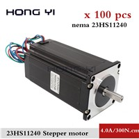 100pcs 8mm Shaft Stepper Motor 3Nm 112mm Nema 23 Stepping Motor 4.0A 4-Lead DIY CNC Mill Lathe Router