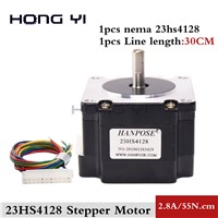 Nema 23 Stepper Motor 41mm 2.8A, 0.55NM Motor 23HS4128 CNC Stepping Motor for CNC Machine 3D Printer