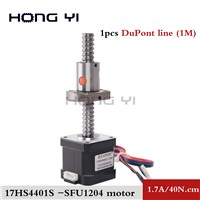 Nema 17 Stepper Motor 1.7A 40N. Cm 17hs4401S- SFU1204 Ballscrew 12mm Diameter 42BYGH CNC Engraving Machine 3D Printer Motor