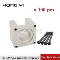 100pcs/Lot Accessories Mounts Bracket Support Shelf Nema23 Stepping Mounting 23 Stepper Motor for 57 Motor