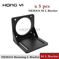 5PCS 57 NEMA 34 Mounting L Bracket Stainless Steel Step Motor Mounting Bracket Stepper Motor Bracket Holder Rack