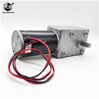82*58mm Gearbox Powerful Electric Worm Gear Motor DC 24V 35RPM Reducer Motor Max Torque 10N. M Larger-Power 30W Worm Geared Motor