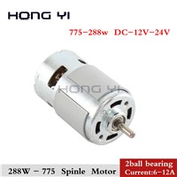 Durable 775 Motor 288w 3000-12000 RPM Motor Brush DC Motors Rs 775 Lawn Mower Motor with Two Ball Bearing Rated
