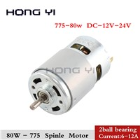 Durable 775 Motor 80w 3000-12000 RPM Motor Brush DC Motors Rs 775 Lawn Mower Motor with Two Ball Bearing Rated