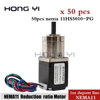 50pcs 11HS5010-PG Nema 11 Extruder Gear Stepper Motor Planetary Gearbox Stepper Motor Ratio 5.18:1 for CNC