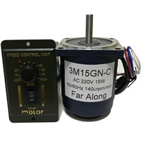 220v AC Single Phase Electric Motor 15W High Speed Motor 1400/2800RPM with Speed Control & Forward Reverse Switch