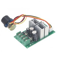 DC Motor Speed Controller Drive Module PWM Support PLC Analog with Knob DC6-60V 20A