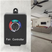 Fan Speed Controller Electronic Stepless Speed Motor Fan Variable Speed Controller Switch US Plug 120V