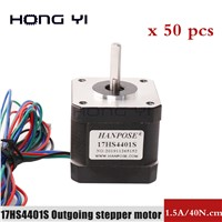 50pcs 3D Printer Accessories 42 Step Motor Small Two-Phase Hybrid Motor 40 Height DIY Engraving Machine DC