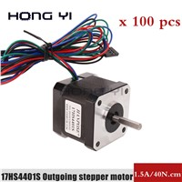 42 Step Motor 100pcs Small Two-Phase Hybrid Motor DIY Engraving Machine DC 3D Printer Accessories