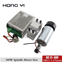 Best Prices!! CNC Spindle Motor 300W + 52mm Clamps Bracket (Send Four Screws) +Power Governor Set for CNC