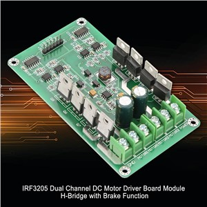 Reliable IRF3205 DC Stepper Motor Driver Dual Channel Motor Driver Board Module H-Bridge w/ Brake Function