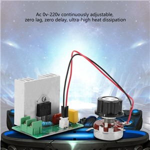 AC 0-220V 4000W 40A Motor Speed Controller Voltage Regulator LED Dimmers Speed Controller Regulator