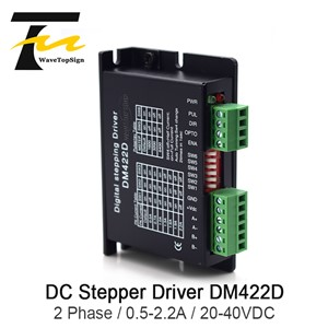 Wavetopsign 2Phase Stepper Motor Driver DM422D Input Voltage DC 20-40V Current 0.5-2.2A Match with the Motor 42
