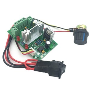 PWM 6V12V24V30V DC Gear Motor Speed Regulator 10A Forward Reverse Stepless Speed Regulation Controller in Motor Controller