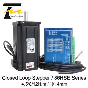 NEMA34 Closed Loop Hybrid Step-Servo Series Driver Kits HSS86 1pcs+Closed-Loop Motor 86HSE Series 1pcs +Data Cable 1pcs