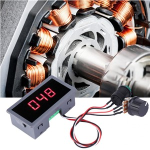 DC Motor Speed Controller PWM DC Motor Controller Stepless Speed Adjustment Regulator with LED Display 6~30V 6A 8A