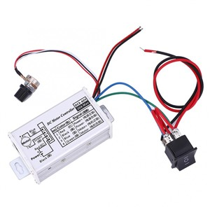 Motor Speed Controller Regulator Driver PWM Speed Regulator Adjustable with Forward/Reverse DC 9-60V 20A