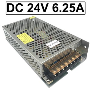 High Quality Power Supply Input AC 110V 220V Output to DC 24V 6.25A 150W & 2 Wires Output for DC Motor Or LED Strip