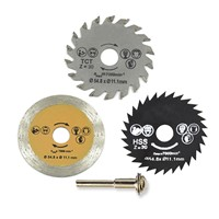 3pcs 54.8mm HSS Angle Grinder Disc Mini Wood Circular Saw Blade Set Circular Saw Rotary Tool Used To Cut Wood & Aluminum Metal