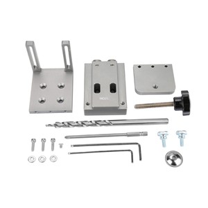1 Set 9mm Woodworking Pocket Hole Jig Kit Step Drill Bits Screws Screwdriver Bit Clamping Plate Power Tools